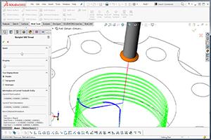 BobCAD-CAM's CAM software enhancement Thread Milling