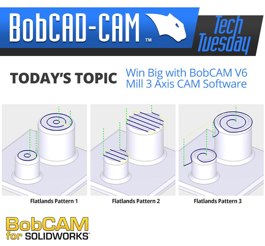 BobCAM 3 Axis cam software