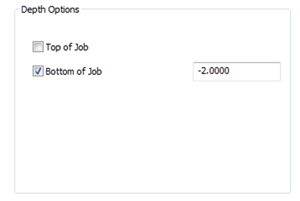 bottom of depth job in cad-cam options menu