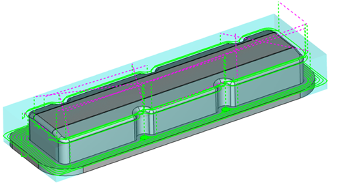 remove stock with cad-cam
