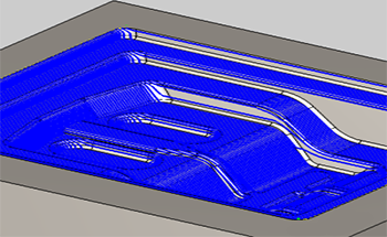 CAD CAM Software feature STL Stock Model REST Finishing