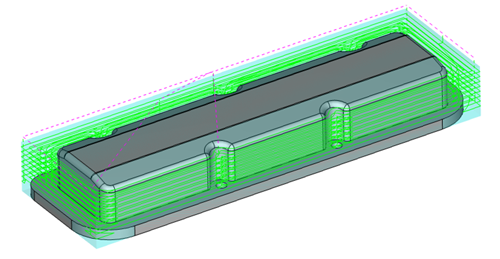 outside rough in cad-cam