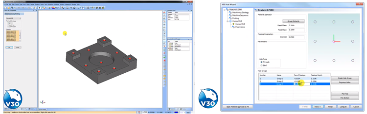 BobCAD-CAM's cam software drilling pockets feature