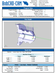V6 CAM software setup sheet