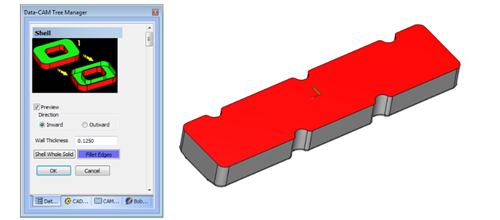 Shelling in cad-cam