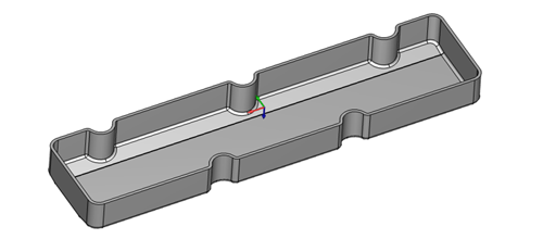 valve cover cavity in CAD-CAM