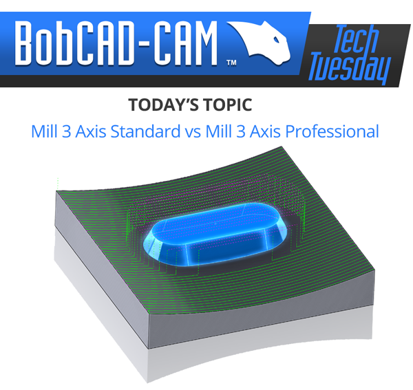 standard vs pro in 3 axis cad-cam software