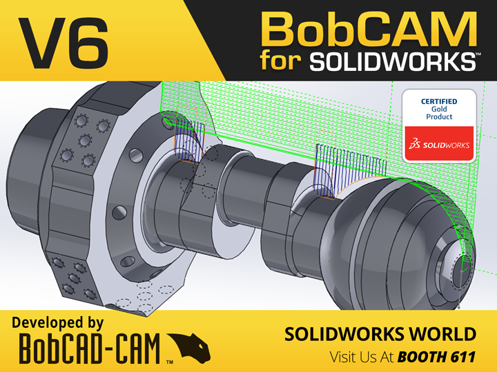 Latest BobCAM for SOLIDWORKS CAM Programming Software Now Showing at SOLIDWORKS World 2018