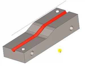 3d radius groove in cad-cam
