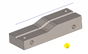stock model with centerline in cad-cam