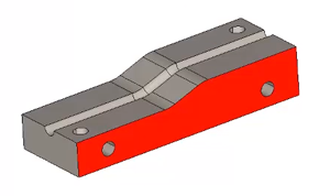 part face selected in cad-cam