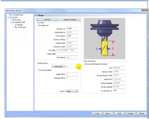 tool set up in cad-cam software