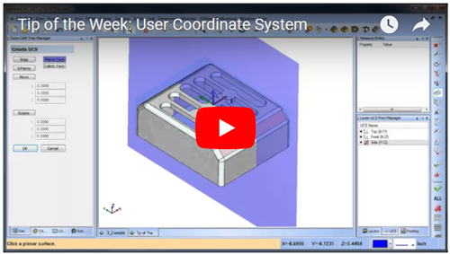 cad-cam user coordinate feature
