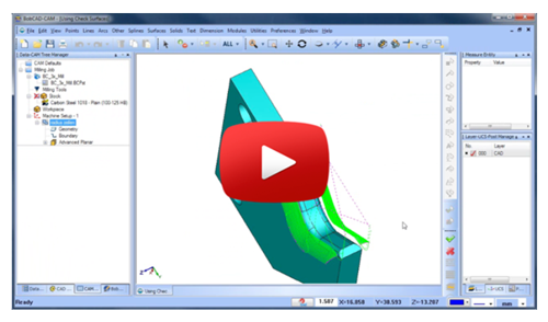 cad-cam software check surfaces