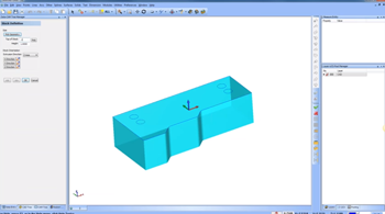 wireframe fitted to part in CAD-CAM