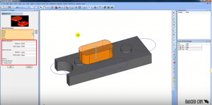 Compute extrude cut operation in CAD-CAM