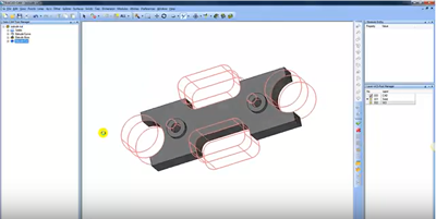 Extrude Cut feature in CNC software from BobCAD