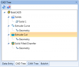 bobcad cnc software cad tree