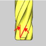 Tool flutes in CAD-CAM