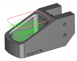 2D boundary in BobCAD CAM software