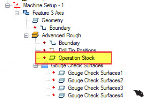 using operation stock in BobCAD CAD-CAm software
