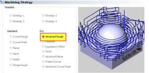 anvanced rough toolpath in BobCAD CNC software