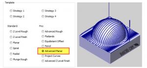 Advanced planar toolpath in BobCAD CNC software
