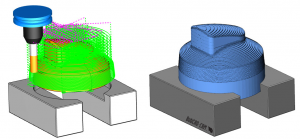 toolpath before and after in CAM software