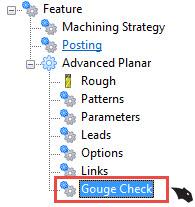 Gouge checking in BobCAD CAM software