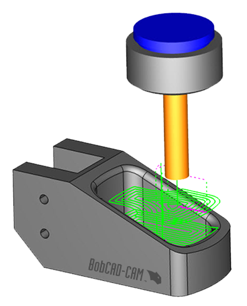 3d toolpath in BobCAD CNC software