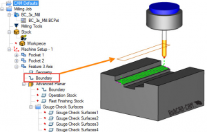 Using Boundary in BobCAD CAD-CAM software