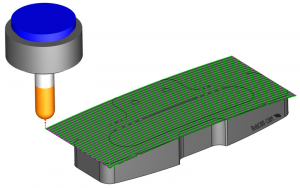 toolpath on top of part in BobCAD-CAM's CAM software