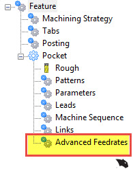 advanced feedrates in V31 cnc software