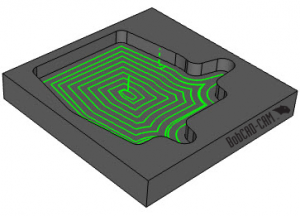 advanced morph spiral toolpath in V31 CAD-CAM software