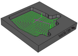 advanced offset toolpath in V31 CAM software