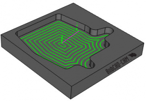 advanced offset pocket pattern in BobCAD CNC software