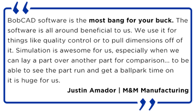 Justin Amador CNC software quote