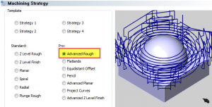 advanced rough option in BobCAD CAD-CAM software