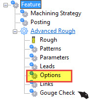 advanced rough options in BobCAD CAM software
