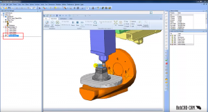 changing views in BobCAD CAD-CAM simulation