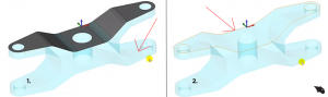 drive on surface or curve in CAD-CAM