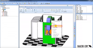 hidden components in BobCAD CNC software simulation