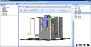 Hide machine components in BobCAD CNC software