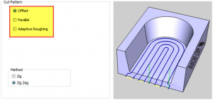 offset in BobCAD CNC software