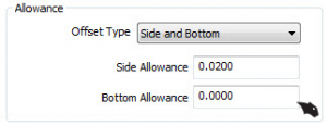 side and bottom offset in CNC software