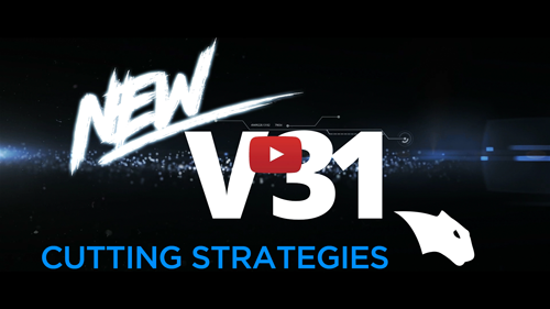 new v31 cam software cutting strategies