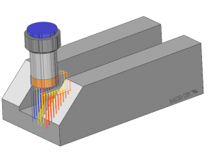 cam software surface based plunge rough simulation