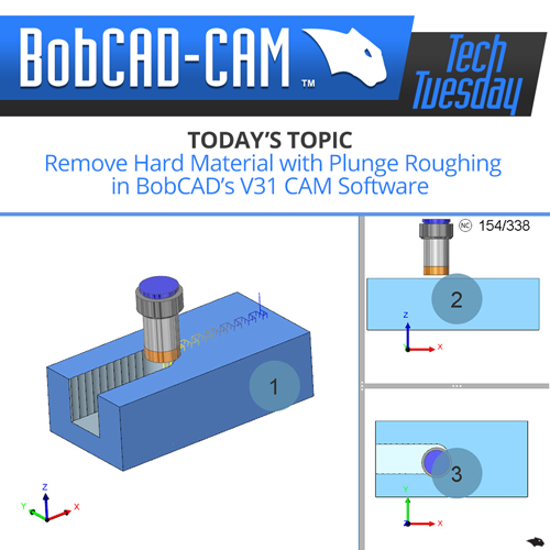 plunge rough in V31 bobcad CAM software