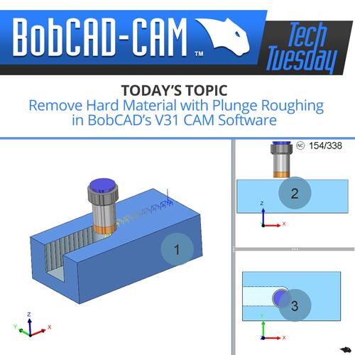 plunge rough in V31 bobcad CAM software