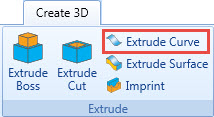 extrude curve in CNC software